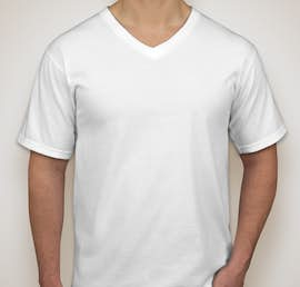 Anvil Jersey V-Neck T-shirt - Color: White