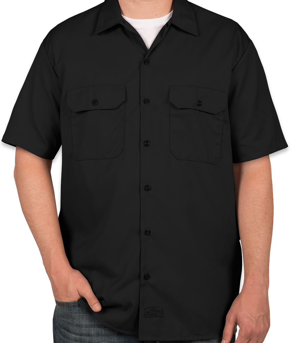 Custom Dickies Twill Industrial Work Shirt - Design Work Shirts ...