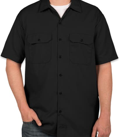 Custom dickies twill industrial work shirt design work for Embroidered dickies work shirts