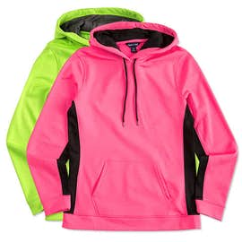 Sport-Tek Ladies Colorblock Performance Pullover Hoodie