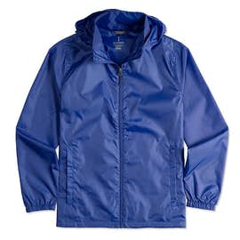 Elevate Darien Packable Lightweight Hooded Full-Zip Windbreaker