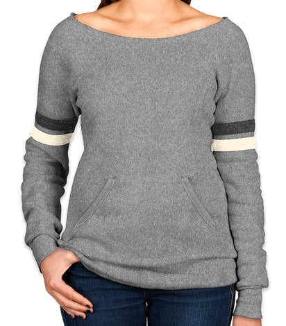 Alternative Apparel Ladies Tri-Blend Wideneck Sweatshirt - Eco Grey