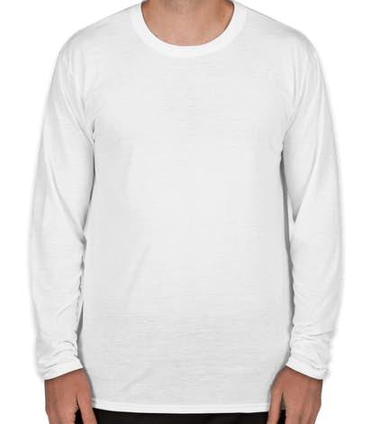 Gildan Soft Jersey Long Sleeve Performance Shirt - White