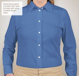 Devon & Jones Ladies Solid Dress Shirt - Color: French Blue