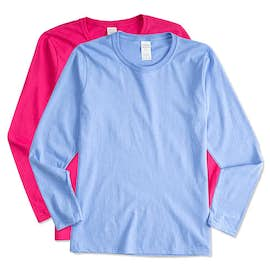Gildan Ladies 100% Cotton Long Sleeve T-shirt