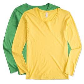 Anvil Ladies Lightweight Scoop Neck Long Sleeve T-shirt