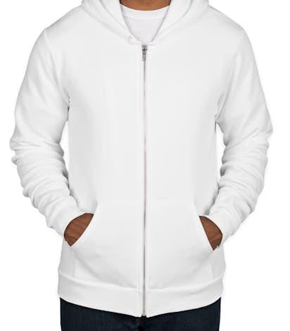 American Apparel Flex Fleece Zip Hoodie - White
