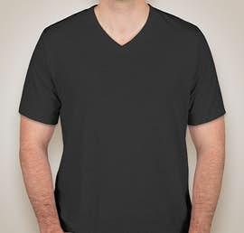 Canvas Tri-Blend V-Neck T-shirt - Color: Charcoal Black Tri-Blend