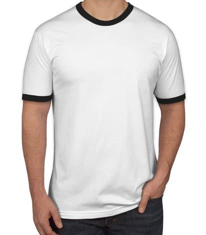 American Apparel Ringer T-shirt - White / Black