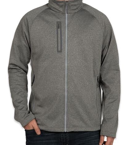 The North Face Canyon Flats Fleece Jacket - Medium Grey Heather