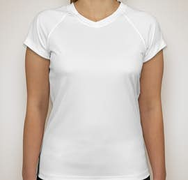Champion Ladies V-Neck Performance Shirt - Color: White