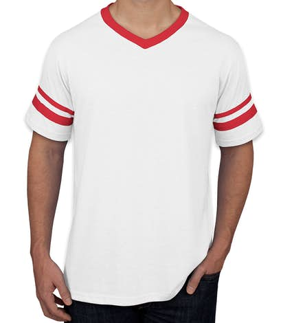 Custom Augusta Double Sleeve Stripe Jersey T Shirt