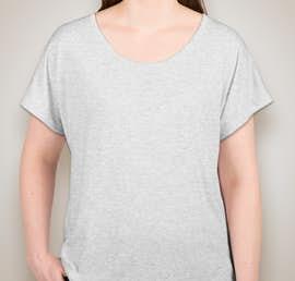 Next Level Ladies Tri-Blend Dolman T-shirt - Color: Heather White