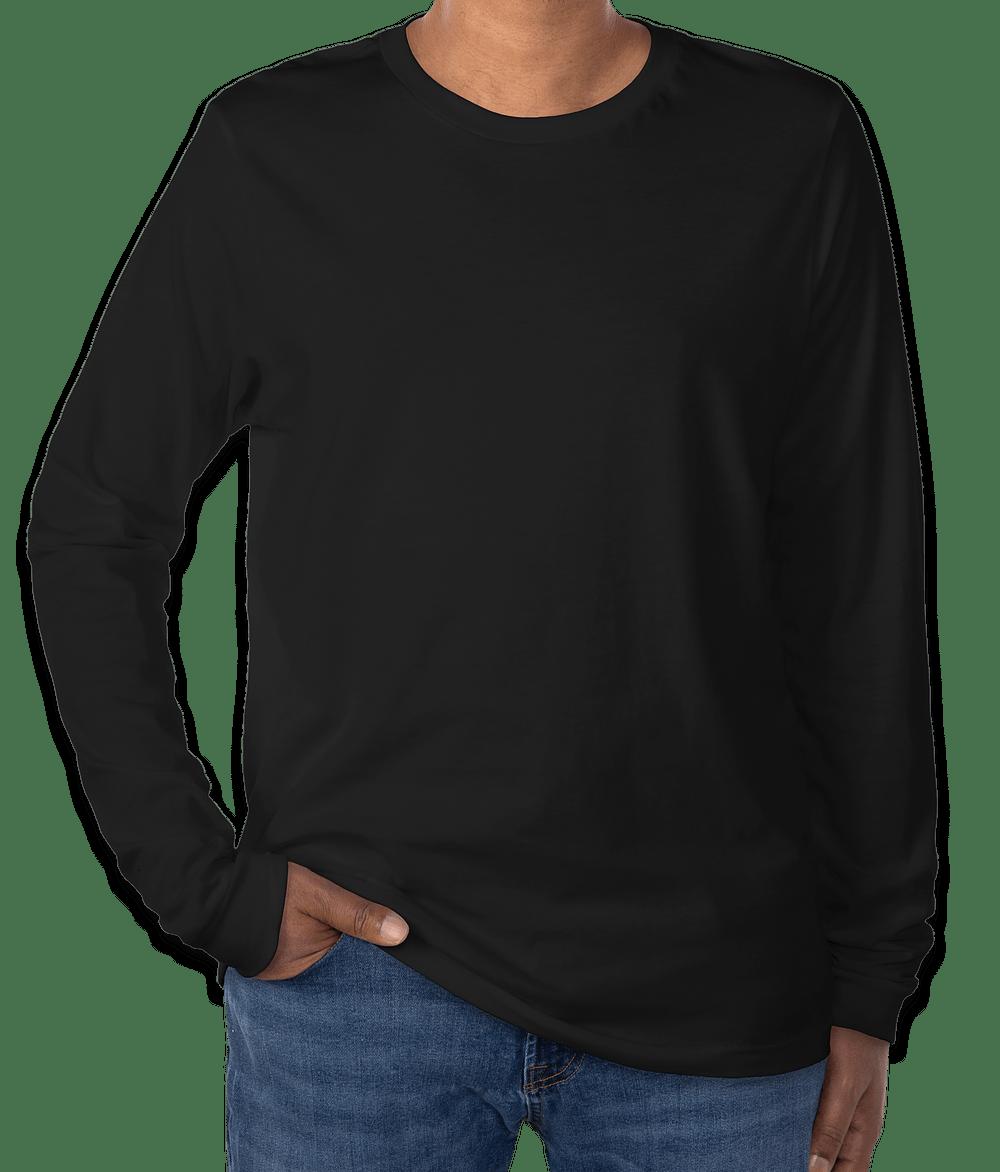 Custom Canvas Tri-Blend Long Sleeve T-shirt - Design Long Sleeve T ...