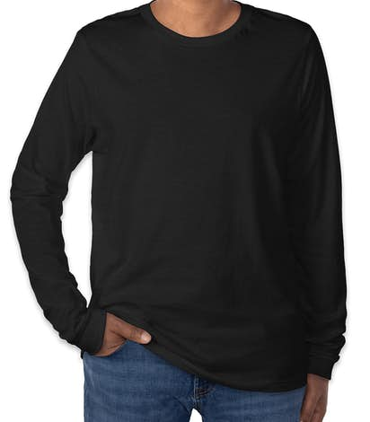 Canvas Tri-Blend Long Sleeve T-shirt - Solid Black Tri-Blend