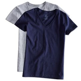 Fruit of the Loom Ladies 100% Cotton V-Neck T-shirt