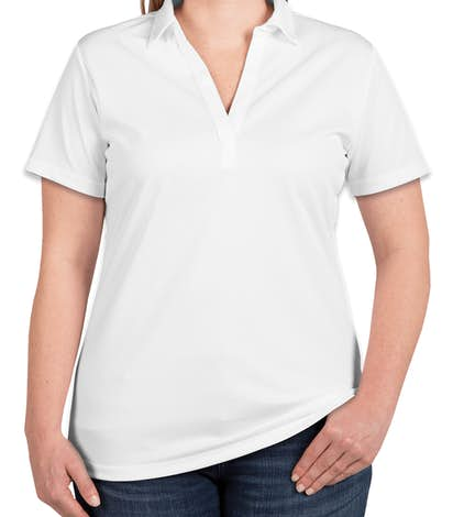 Port Authority Ladies Silk Touch Performance Polo - Embroidered - White