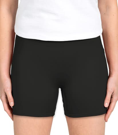 Badger Ladies Compression Volleyball Short - Black