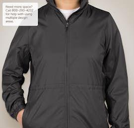 Port Authority Ladies Core Colorblock Full Zip Jacket - Color: Battleship Grey / Black