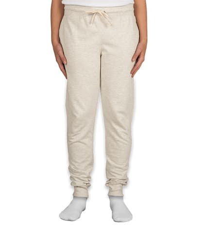Champion Authentic Ladies French Terry Jogger Sweatpants - Oatmeal Heather