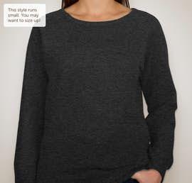 Independent Trading Juniors Lightweight Crewneck Sweatshirt - Color: Charcoal Heather