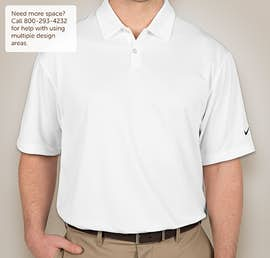 Nike Golf Pebble Textured Performance Polo - Color: White