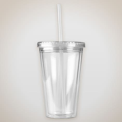 16 oz. Acrylic Cafe Tumbler - Clear