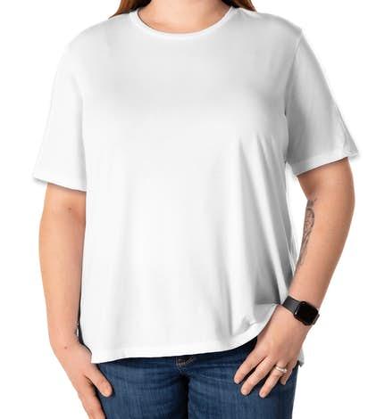 Bella Ladies Tri-Blend T-shirt - Solid White Tri-Blend