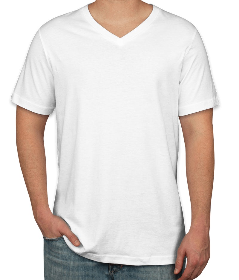 Custom canvas jersey v neck t shirt design short sleeve for T shirts online custom