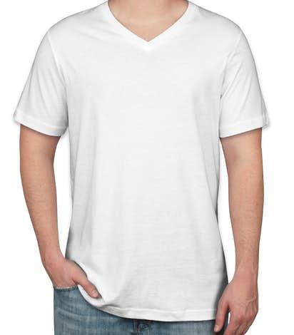 Custom Canvas Jersey V-Neck T-shirt - Design Short Sleeve T-shirts ...
