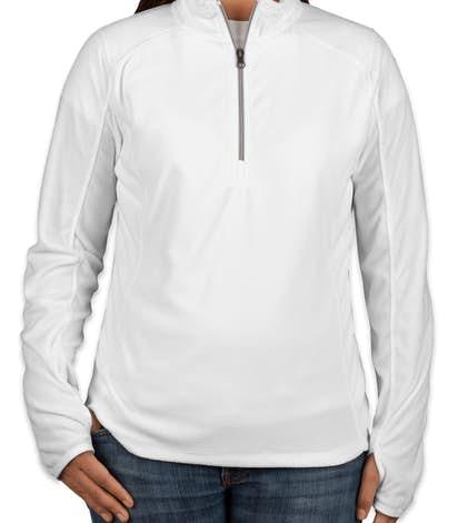 Port Authority Ladies Quarter Zip Microfleece Pullover - White
