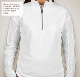 Port Authority Ladies Quarter Zip Microfleece Pullover - Color: White