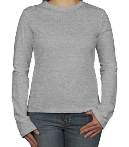 Bella Juniors Long Sleeve Jersey T-shirt - Athletic Heather