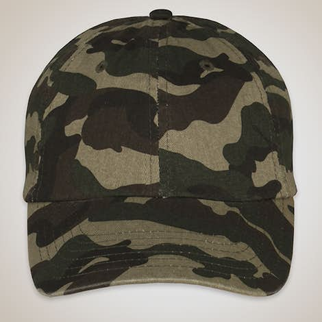 Valucap Bio-Washed Camo Hat - Green Camo