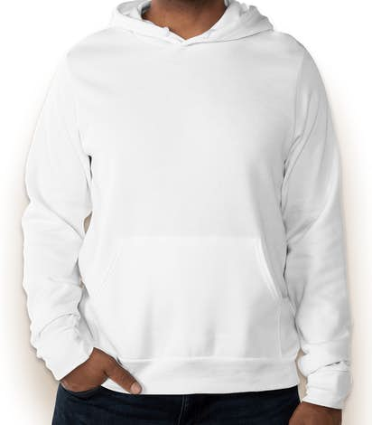 Bella + Canvas Ultra Soft Pullover Hoodie - White