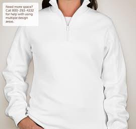 Sport-Tek Premium Ladies Quarter Zip Sweatshirt - Color: White