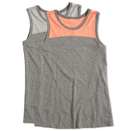 Augusta Ladies Colorblock Crossback Tank