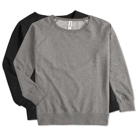 Custom Independent Trading Juniors Lightweight Crewneck Sweatshirt ...