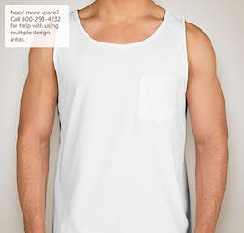 Comfort Colors 100% Cotton Pocket Tank - Color: White
