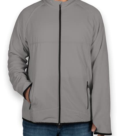 Team 365 Hybrid Microfleece Full Zip Jacket - Sport Graphite