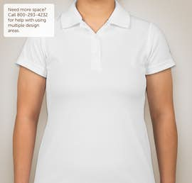 Champion Ladies Double Dry Performance Polo - Color: White