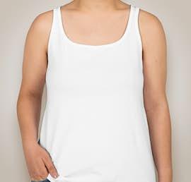 Bella Ladies Jersey Tank - Color: White