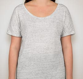 Bella Ladies Flowy Melange T-shirt - Color: White Marble