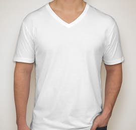Next Level Jersey V-Neck T-shirt - Color: White