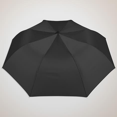 """Vitronic Solid Auto Open Compact 44"""" Umbrella - Black"""