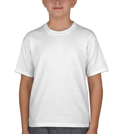 Canada - Jerzees Youth 50/50 T-shirt - White