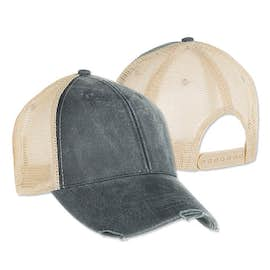 Adams Pigment Dyed Distressed Trucker Hat