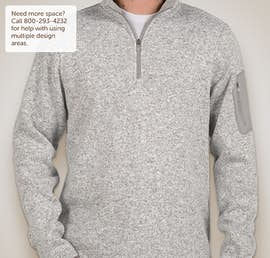 Charles River Quarter Zip Sweater Fleece Pullover - Color: Light Grey Heather