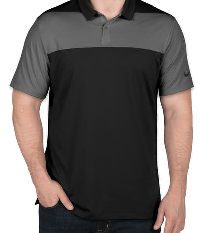 Limited Edition Nike Colorblock Performance Polo - Black / Dark Grey