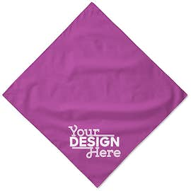 100% Solid Cotton Bandana (Corner Design)